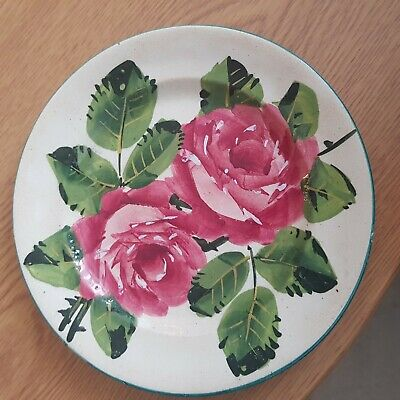 Wemyss Cabbage Roses T Goode & CO. Cake Plate Circa 1910 Vintage Antique Pottery • 180£