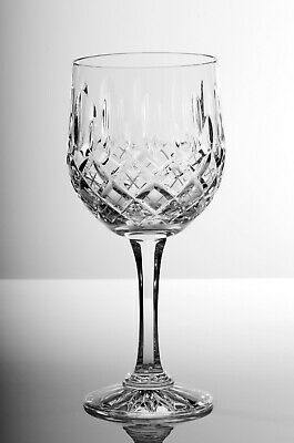 Box Of 6 Hand Cut 24% Lead Large Wine Crystal Glasses 240ml HAND MADE • 35£