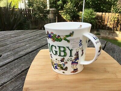 Dunoon Bone China Large Mug 'Rugby' By Cherry Denman New Quirky 10.5 Cms • 14£