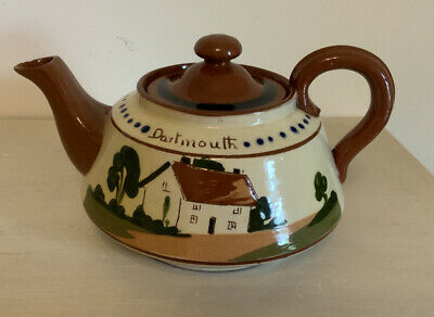 Vintage Watcombe Mottoware Pottery Teapot - 2 Cup Size-'Take A Cup Of Kindness' • 6£