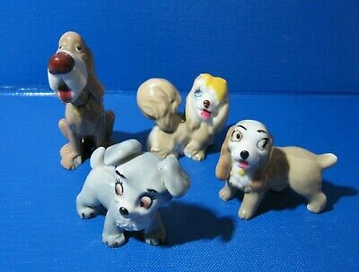 4 Wade Whimsies From Lady & The Tramp - Lady, Scamp, Peg, Trusty • 10.50£