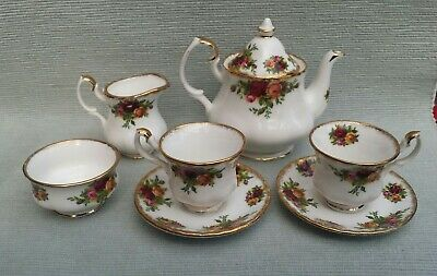 Beautiful Scarce Royal Albert Old Country Roses Miniature Teaset For Two  • 35£