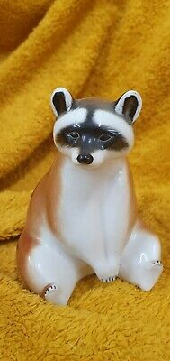 Vintage Lomonosov Racoon Sitting Stamped Made In Ussr • 8£