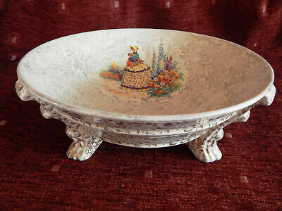 Empire Ware Crinoline Lady Ivory Fruit Bowl Footed Stamped 1040. • 10£