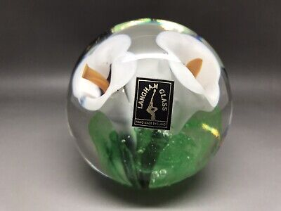 Super Langham Glass Paperweight 7 Cm Tall (Y466) • 15£