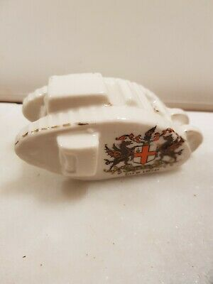 Antique WW1 Tank Crested Ware  City Of London   4  Long  • 15£
