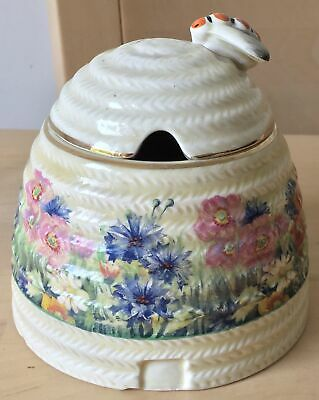 CLARICE CLIFF RADIANCE Pattern LIDDED JAM HONEY CONSERVE POT • 21.99£