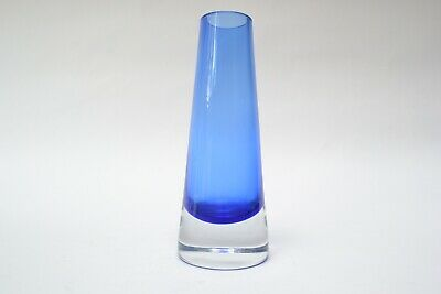 Vintage Blue  Riihimaki Cased Art Glass Vase  • 25£