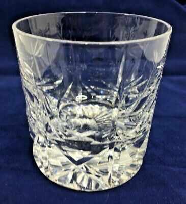 Vintage Heavy Crystal Cut Glass Whisky Tumbler 647g Great Quality • 23.76£