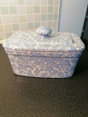 Lovely Burgess & Leigh Blue Chinz Lidded Butter Dish. Excellent Condition  • 15£