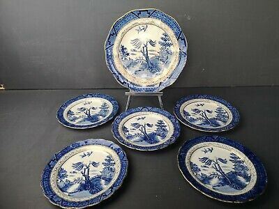 JOBLOT Booths Silicon China Real Old Willow  1921-44 1 Salad  & 5 Side Plates  • 9.99£