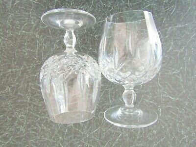 Heavy CRYSTAL, 2 X BRANDY GLASSES, 11 Fl.oz, 5½  High, Unbranded, New, Late1900s • 5.95£