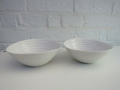 2 Sophie Conran For Portmeirion White Ripple Ribbed Cereal Bowls • 17.50£