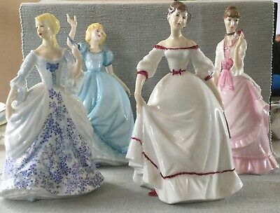 Four Royal Worcester Figurines. Flirtation,Fragrance, Invitation & Coming Of Age • 28£