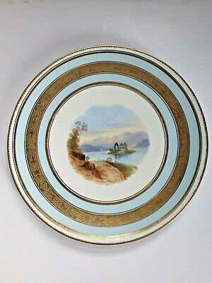 Stunning Antique Aynsley Cabinet Plate, Hand Painted Loch Scene, Circa 1880. • 19.99£