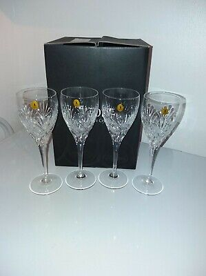 Set Of 4 New Barosa Tyrone Crystal Wine Glasses In Original Box • 26.40£
