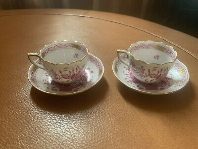 Antique Herend Of Hungary Teacup And Saucer • 130£