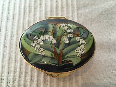 Moorcroft Enamels Lily Of The Valley OV/LV Shape Box By Philip Gibson • 195£