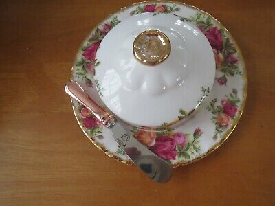 Royal Albert Old Country Roses Butter Dish/small Spreader Excellent Unused • 15.99£