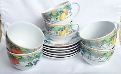 Wedgwood Eden Tea Cups And Saucers X 6 • 45£