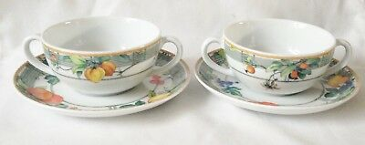 Wedgwood Eden Soup Coupes And Plates X 2 • 50£