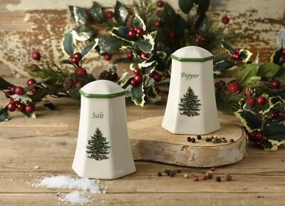 Spode Christmas Tree Hexagonal Salt And Pepper Set • 13.95£