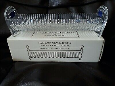 Lead Crystal Harmony Cracker Tray - In Original Box • 2£