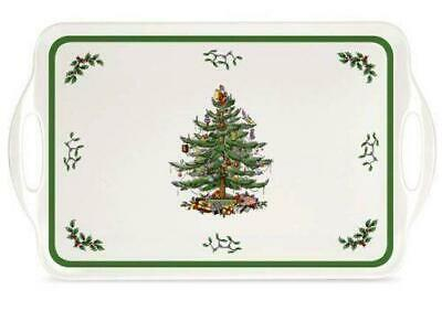 Spode Christmas Tree Melamine Large Serving Tray With Handles • 11.95£
