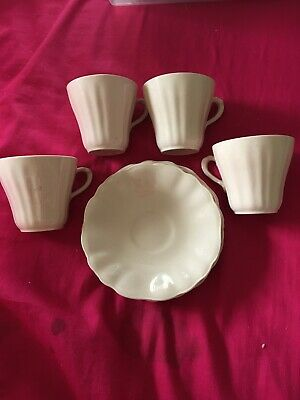 J&G Meakin Rosa Sol Espresso Cups And Saucers • 5£