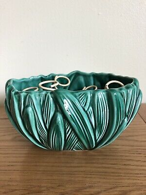 Vintage Sylvac Hyacinth Bowl No. 2482 Planter Rare Green Colour With Vase Insert • 5.99£