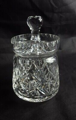 Beautiful High Quality Cut Glass Crystal Biscuit Barrel • 19.99£