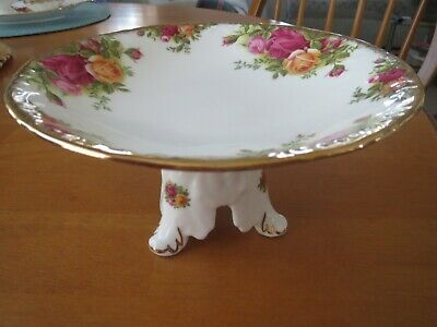 Royal Albert Old Country Roses Rare Tazza Cake Stand 1st Quality Unused Conditio • 13.50£