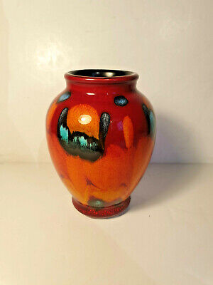 VINTAGE POOLE POTTERY VASE BY PATRICIA WELLS (1959-73) - Excellent Condition • 28.99£