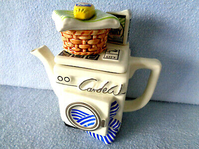 **  Refreshingly Hygienic  Washing Machine Cardew Teapot With Sticker ** Mint ** • 14.99£