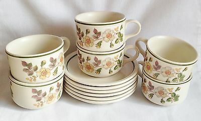 M&S Autumn Leaves Breakfast Cups And Saucers X 6 Large - Marks And Spencer  • 16.50£
