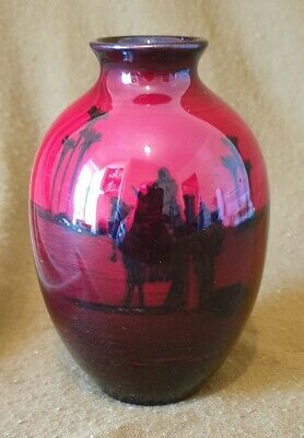 5271 Royal Doulton Flambe Vase 12cms • 45£