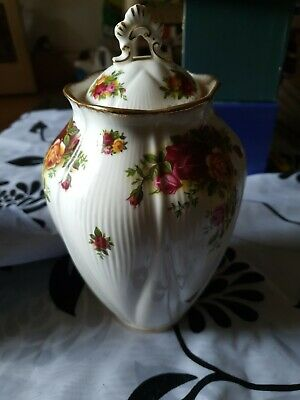 Collectable Royal Albert Old Country Roses Covered Cookie Jar, Vase, Urn • 9.99£
