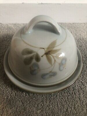 Highland Stoneware Lochinver Cheese/Butter Dish/Dome Traditional Floral Scotland • 35£