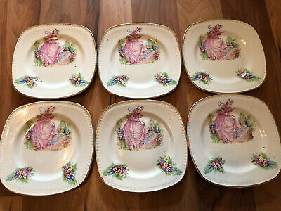 Set Of 6 Portland Pottery Pinkie Side Plates • 19.99£