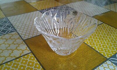 Tyrone Crystal Bowl Scalloped Edged Bowl / Sugar Bowl Stamped / Label Attatched • 15£