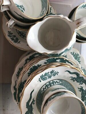 A Large Selection Of Booths Dragon Green China, With Gold Rims, Postage Discount • 3.95£