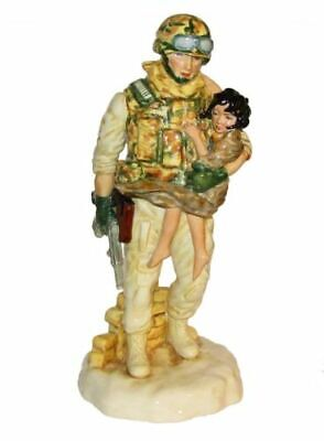 Peggy Davies Ornament Figurine ' In The Arms Of A Hero  • 99£