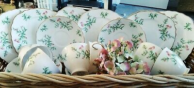 Vintage Colclough 6798 Bone China 18 Piece Tea Set, Floral Pattern (Gorse?) READ • 23£