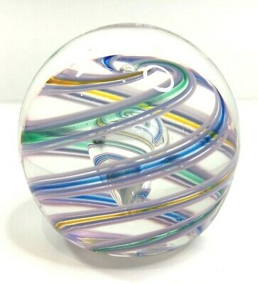 Vintage Glass Multi Colour Swirl Paperweight Weighs 328g • 21.95£