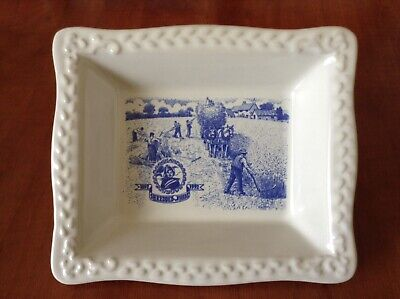 Vintage Shredded Wheat Cereal Bowl 100 Years 1992 Commemoration Blue & White VGC • 2.75£