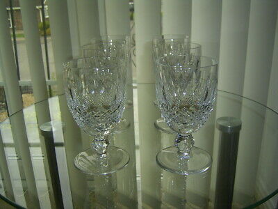 Set Of 6 Waterford Crystal Colleen Cut Claret Wine Glasses Signed 4.3/4  • 99.99£