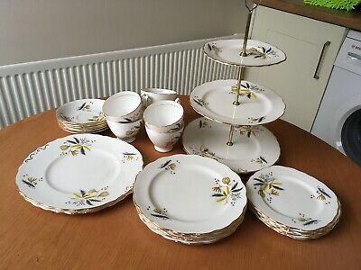 Vintage Colclough Stardust Fine Bone China Tea Set X6 • 20£