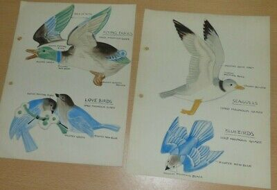 Historically Important Poole Pottery Hand Painted Bird Designs By John Adams • 102£