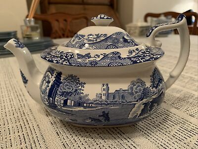 Spode Blue Italian 1816 Tea Pot  • 26£