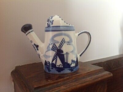 Delft Hand Painted Watering Can • 2.99£